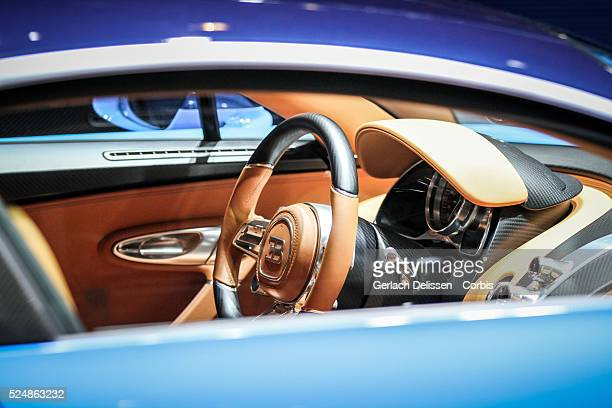 The Bugatti Chiron on display at the 86th Geneva International Motorshow at Palexpo in Switzerland March 2 2016