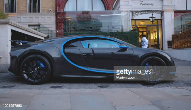 The Bugatti Chiron seen in Knightsbridge London The Chiron is the successor to the Bugatti Veyron and was first shown at the Geneva Motor Show on...