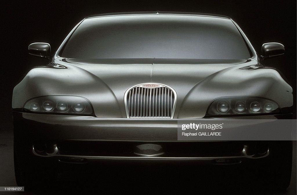 The Bugatti EB 112 in Italy in February, 1993. : News Photo