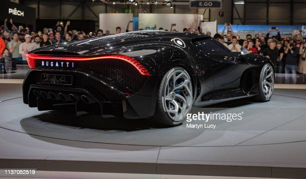 The Bugatti La Voiture Noire at the Geneva International Motorshow 2019 La Voiture Noire – French for the black car was unveiled at this years Geneva...