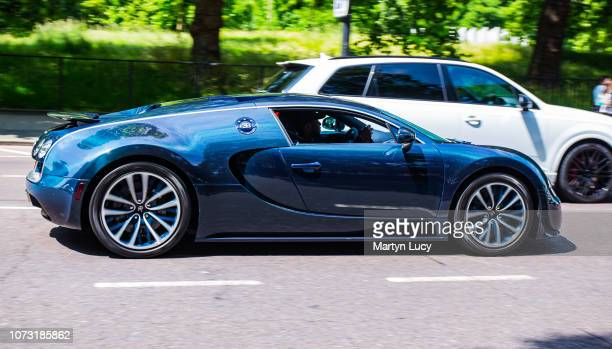 The Bugatti Veyron in London England The Veyron is named after the racing driver Pierre Veyron The owner Afzal Kahn owner of Kahn Design has one of...
