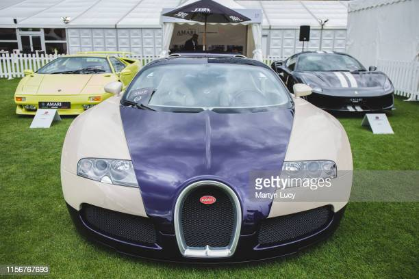 The Bugatti Veyron on display at The London Concours event. The Honourable Artillery Company host the two day luxurious automotive garden party at...