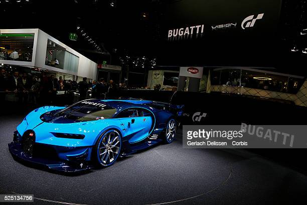 The Bugatti Vision Gran Turismo on display during the 66 Internationale AutomobilAusstellung 2015 in Frankfurt am Main Germany on September 16 2015