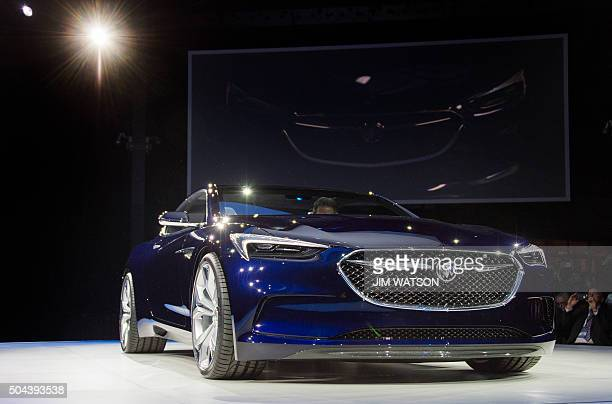 The Buick Avista concept coupe is unveiled ahead of the North American International Auto Show in Detroit Michigan January 10 described as a...