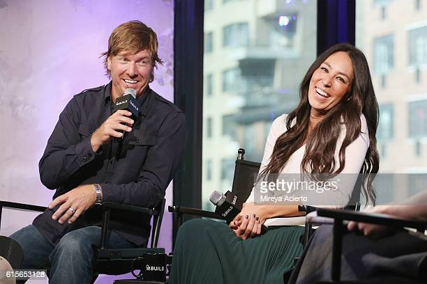 """The Build Series present Chip Gaines and Joanna Gaines to discuss their new book """"The Magnolia Story"""" at AOL HQ on October 19, 2016 in New York City."""