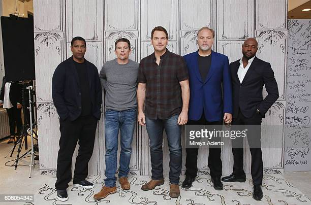The BUILD Series presents actors Denzel Washington Ethan Hawke Chris Pratt Vincent D'Onofrio and director Antoine Fuqua to discuss 'The Magnificent...