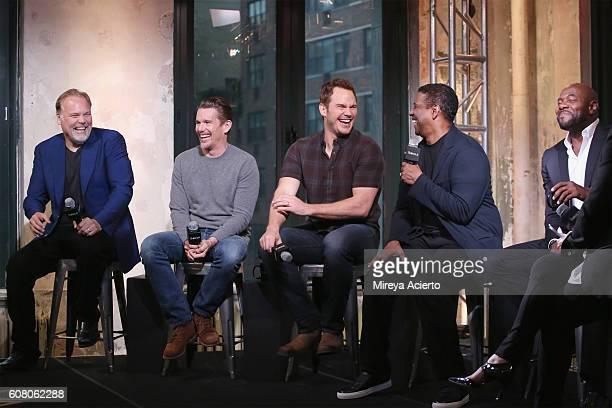 The BUILD Series presents actors Vincent D'Onofrio Ethan Hawke Chris Pratt Denzel Washington and director Antoine Fuqua to discuss 'The Magnificent...