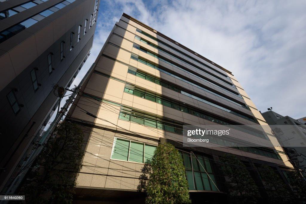 Coincheck Inc. Bitcoin Wallet App and Company Headquarters as Crypto Exchange's $400 Million NEM Loss Spooks Investors : News Photo