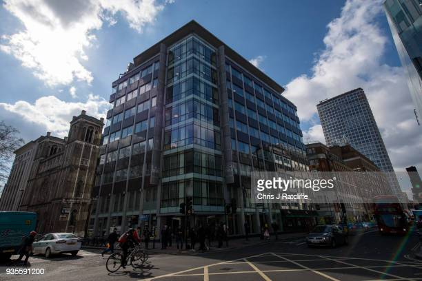 The building in which company Cambridge Analytica are based on March 21 2018 in London England UK authorities are currently seeking a warrant to...