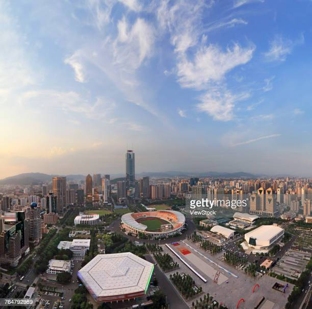 the building of guangzhou city in guangdong province,china - tianhe stadion stock-fotos und bilder