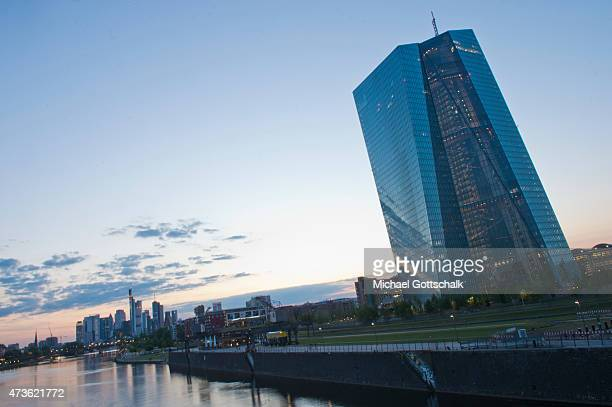 The building of the European Central Bank ECB ECB at the banks of the river Main on May 15 2015 in Frankfurt Germany
