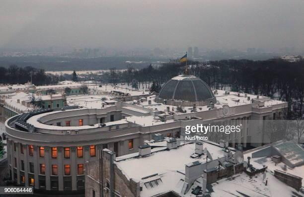 The building of the Verkhovna Rada of Ukraine in the evening in Kiev Ukraine Wednesday January 17 2018 Chairman of the Verkhovna Rada of Ukraine...