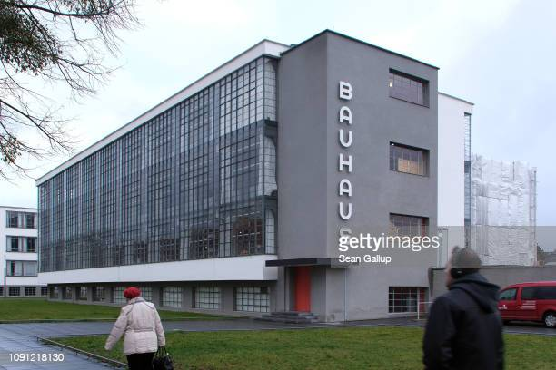 The building that housed the Bauhaus art school from 1925 to 1932 and is today a museum stands on January 07 2019 in Dessau Germany Germany is...