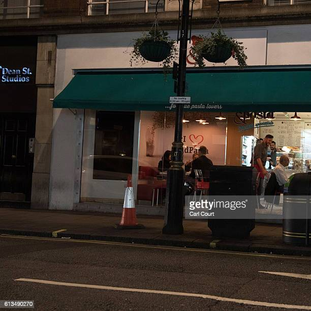 The building that was The Soho Record Centre is pictured at night on September 29 2016 in London EnglandTaking archive images seen in the SOHO...