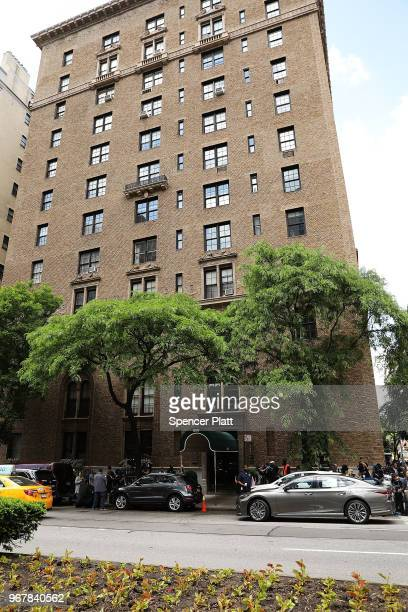The building where the body of fashion designer Kate Spade was found in her apartment of an apparent suicide is shown on June 5 2018 in New York City...