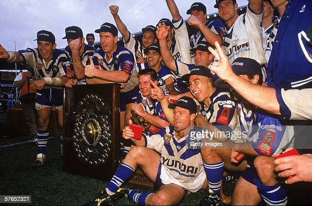 The Bulldogs celebrate victory after winning the ARL Grand Final between the Canterbury Bulldogs and the Manly Sea Eagles at the Sydney Football...