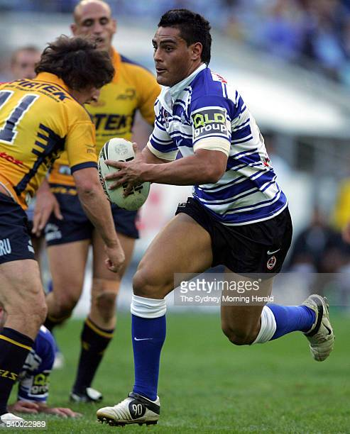 The Bulldogs' Reni Maitua in action during the Round 10 NRL rugby league match between the Canterbury Bulldogs and Parramatta Eels at Telstra Stadium...