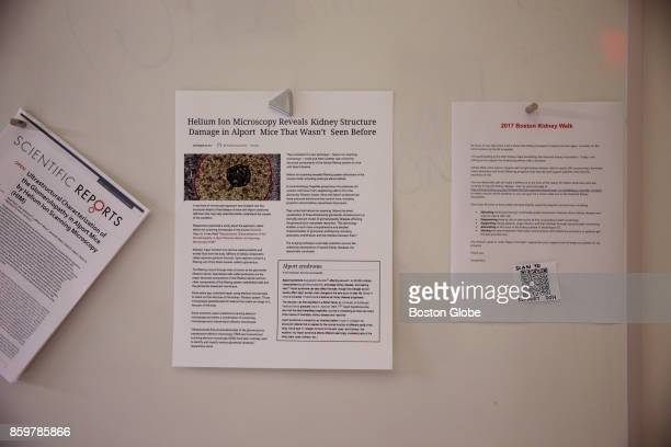 The bulletin board where Don Burl III and Dr John A Notte posted news is pictured at Carl Ziess Micoscopy in Peabody MA on Oct 3 2017 When chief...