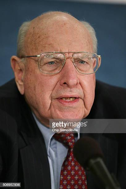 The Bulletin of the Atomic Scientists Science and Security Board member Thomas Pickering speaks during a news conference where The Bulletin of the...
