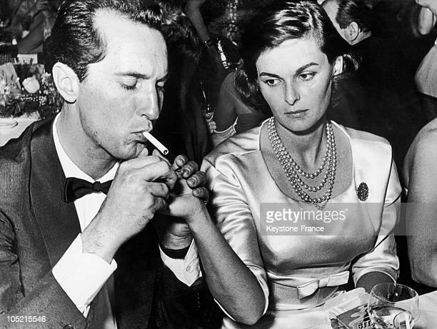 The Bullfighter Miguel Dominguin And His Wife Lucia Bose In Munich At A Dance Gathering The Stars Of The World, January 30, 1958.