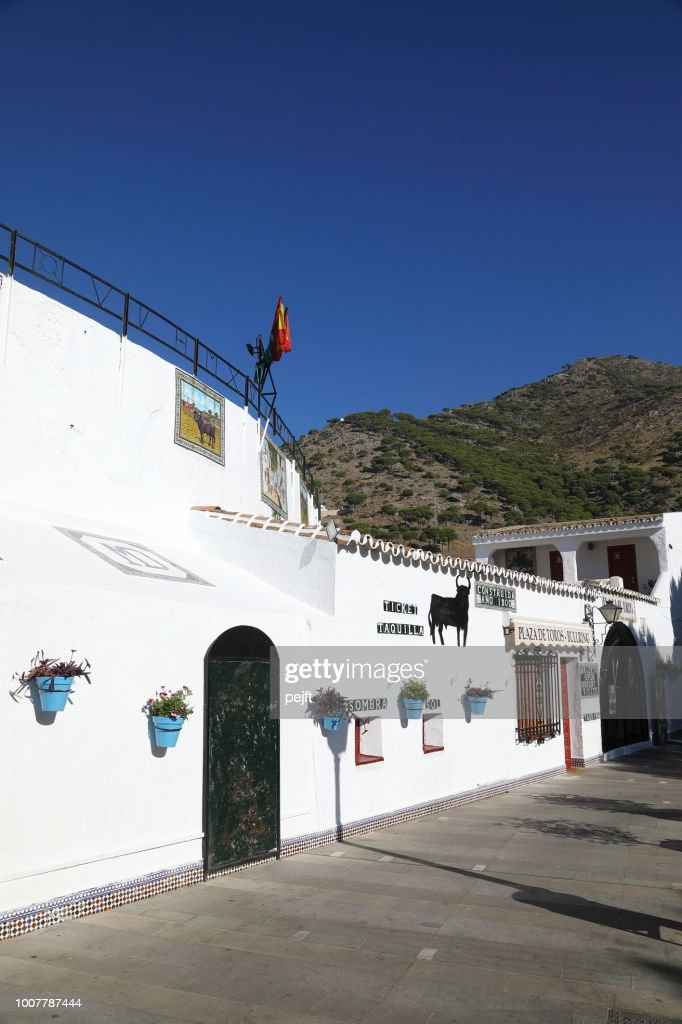 The bullring of Mijas - the white town above Fuengirola : Stock Photo