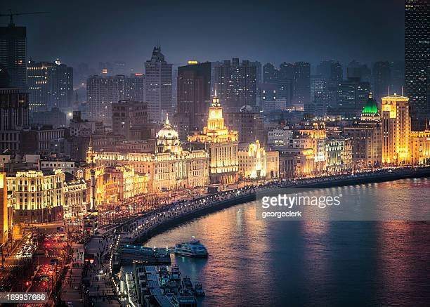 the bund in shanghai - the bund stock photos and pictures