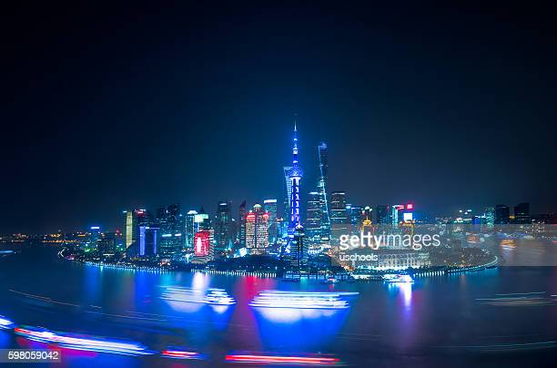 The Bund of Shanghai Panorama at night