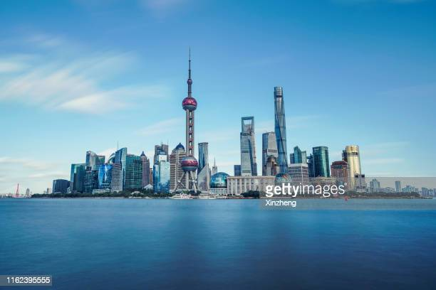 the bund, shanghai - lujiazui stock pictures, royalty-free photos & images