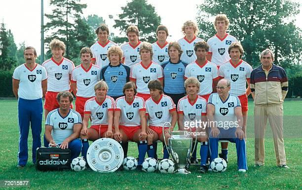 The Bundesliga team of Hamburg Felix Magath Wolfram Wuttke Allan Hansen Wolfgang Rolff Ditmar Jakobs assistant coach Rainer Ohlhauser Dieter...