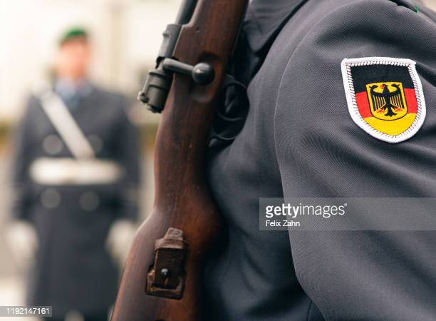 The Bundeswehr guard battalion in front of the defense ministry on November 26 2019 in Berlin Germany