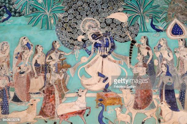 The Bundi Palace in Rajasthan Mural of the Chitrashala in the Bundi Palace The Palace is situated on the hillside adjacent to the Taragarh Fort and...