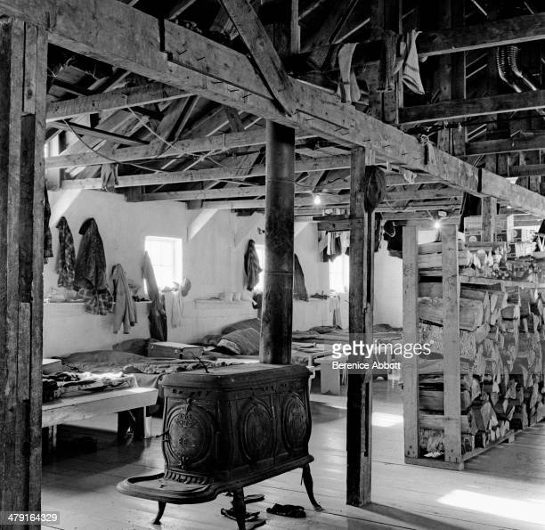 The bunk house United States circa 1950 Abbott took two series of logging photographs the first in the High Sierra Mountains in 1943 and the second...