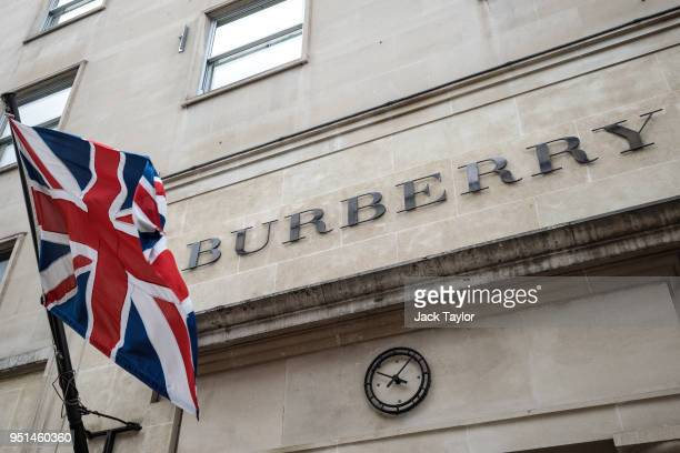 The Burberry store stands in Mayfair on April 26, 2018 in London, England. The designer for Meghan Markle's wedding dress has yet to be announced...