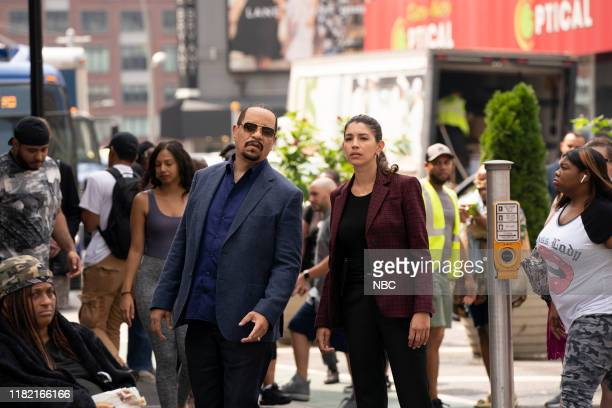 UNIT The Burden of our Choices Episode 21004 Pictured Ice T as Detective Odafin Fin Tutuola Jamie Gray Hyder as Katriona Kat Azar Tamin