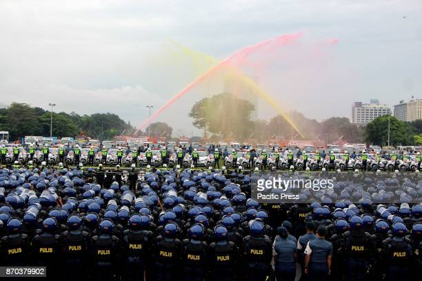 The Bureau of Fire Protection sprayed colored water that represents the ASEAN Colors during the SendOff Ceremony for the ASEAN Summit and Related...