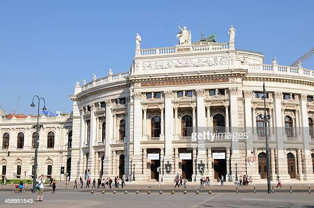 o teatro burgtheater corte imperial em viena (áustria) - bulevar - fotografias e filmes do acervo