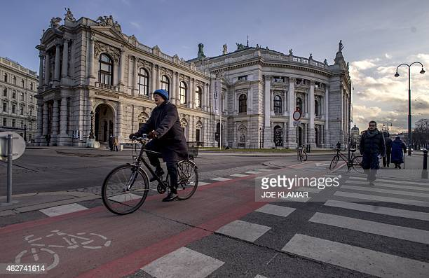 STURDEE The Burgtheater is pictured in Vienna Austria on February 3 designed by German architect Gottfried Semper and Austrian architect Karl von...