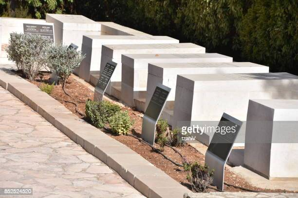 the burial area of the heads of the world zionist organization , jerusalem, israel - mount herzl stock pictures, royalty-free photos & images