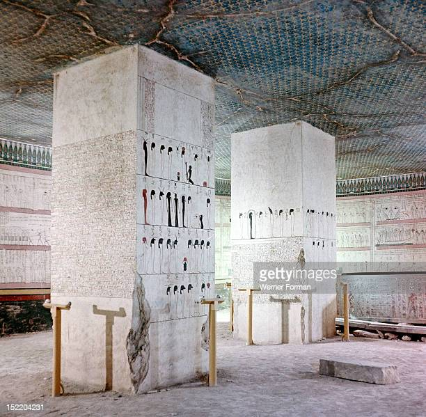 The burial chamber of Tuthmosis III On the walls is the full version of the Book of Amduat which sets out the spells and charms necessary to defy...