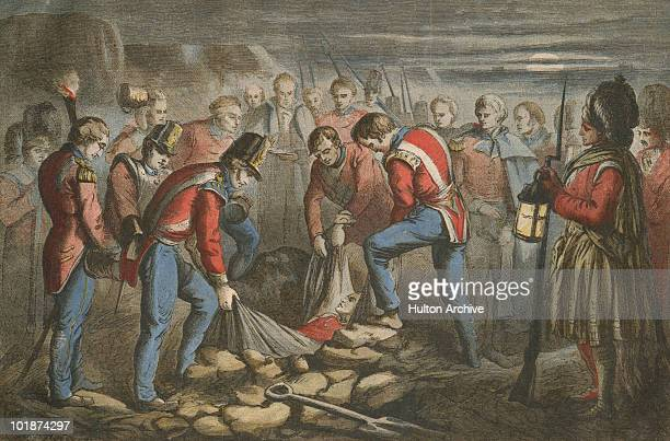 The burial of LieutenantGeneral Sir John Moore of the British Army during the Napoleonic Wars January 1809 He was fatally wounded at the Battle of...