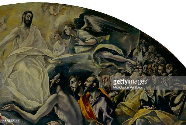 The Burial of the Count of Orgaz by El Greco 16th Century oil on canvas 480 x 360 cm Spain Toledo Church of Santo Tom Detail High part of the...