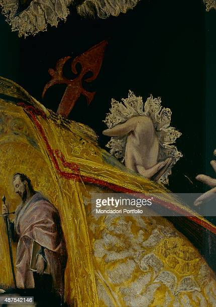 The Burial of the Count of Orgaz by El Greco 16th Century oil on canvas 480 x 360 cm Spain Toledo Church of Santo Tom Detail The hand of one of the...
