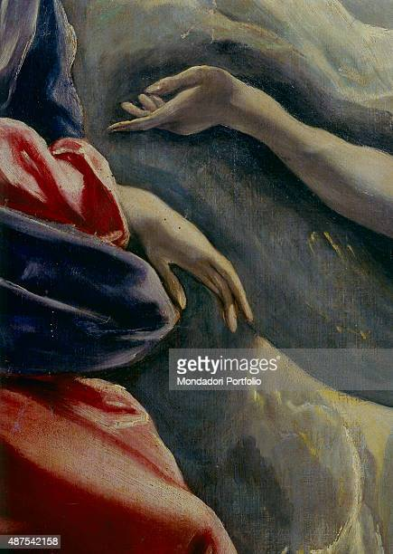 The Burial of the Count of Orgaz by El Greco 16th Century oil on canvas 480 x 360 cm Spain Toledo Church of Santo Tom Detail Particular portraying...