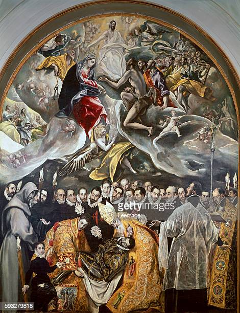 The Burial of the Count of Orgaz Detail of the lower section Painting by Domenikos Theotokopoulos known as El Greco 15861588 oil on canvas 460x360 cm...