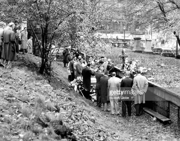 The burial of Walter J Monahan takes place at the Central Burying Ground in the Boston Common on Nov 2 1957 Monahan a bartender at the Hotel Vendome...