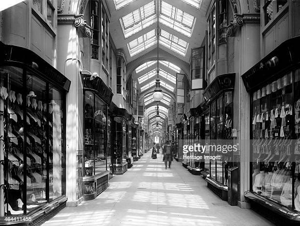 The Burlington Arcade off Piccadilly London 1905 It was designed in 1819 by Samuel Ware It is an arcade of small shops of high quality policed by its...