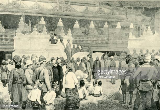 The Burmah War - Sir Frederick Roberts Meeting The Buddhist Archbishop at Mandalay', . British soldier Sir Frederick, 1st Earl Roberts meets the...