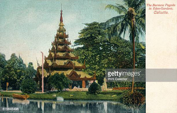 The Burmese Pagoda in EdenGardens Calcutta' circa 1900 Eden Gardens Calcutta India constructed in 1834 and named after Emily and Fanny Eden the...