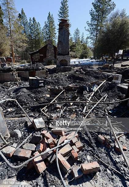 The burned out cabin where the remains of multiple murder suspect and former Los Angeles Police Department officer Christopher Dorner were found is...