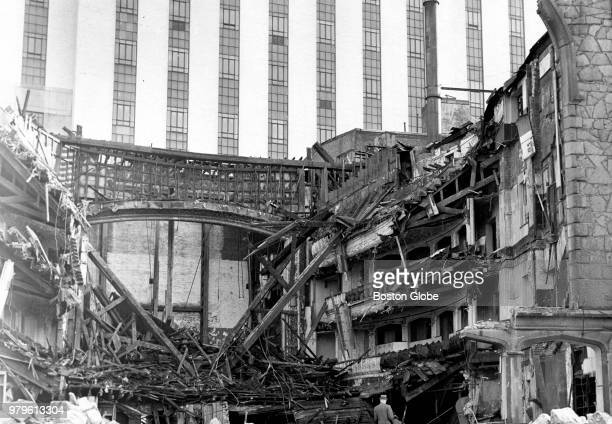 The burned remains of the Old Howard Theatre in Boston are pictured in June 1961 A threealarm blaze destroyed the shuttered theater and city...